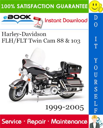 Thumbnail ☆☆ Best ☆☆ Harley-Davidson FLH/FLT Twin Cam 88 & 103 Motorcycle Service Repair Manual 1999-2005 Download
