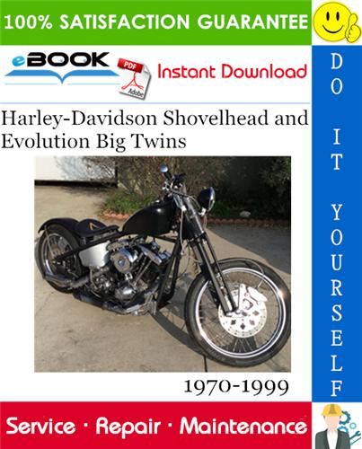 Thumbnail ☆☆ Best ☆☆ Harley-Davidson Shovelhead and Evolution Big Twins Motorcycle Service Repair Manual 1970-1999 Download